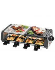 TECHWOOD Raclette Grill 8 Pers Pierre de cuisson amovible