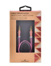 BLUESTORK TRENDY-AUX-W - CABLE TRESSE JACK M/M 1.20M - PINK ?