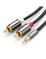 C?ble AUDIO Premium 3.5mm vers RCA (M/M) Connecteurs plaqu?s Or 2m