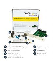 StarTech.com ADAPTATEUR 3x SSD M.2 (NGFF) sur PCIe 3.0 * PEXM2SAT32N1