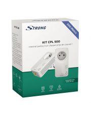 KIT CPL STRONG Powerline avec prise 500 Mbit/s compat internet/adsl