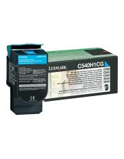 C54x/X54x Cartouche de toner Return Program Cyan haute capacite (2K) 2 000 pages C540n / C543dn / C544dn / C544dtn / C544dw / C5