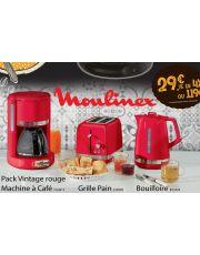 PACK VINTAGE MOULINEX CAFETIERE - GRILLE PAIN - BOUILLOIRE